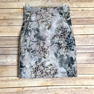 H&M Floral Pencil Skirt With Pockets